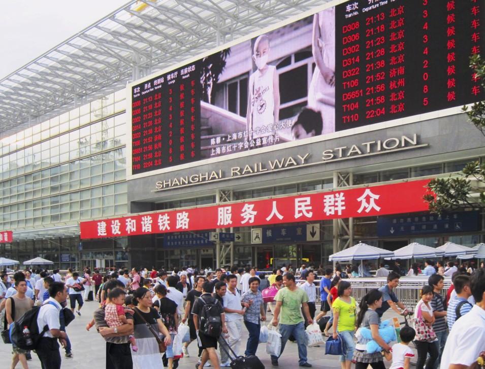 Shanghai Central Railway station. © Cristiana Mazzoni