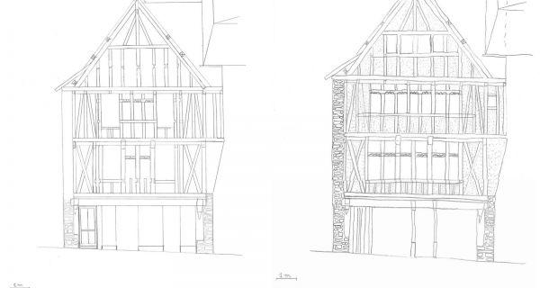 La renaissance d'une façade en pan de bois - récit de la restauration de la façade du 8 rue Savary à Quimperlé