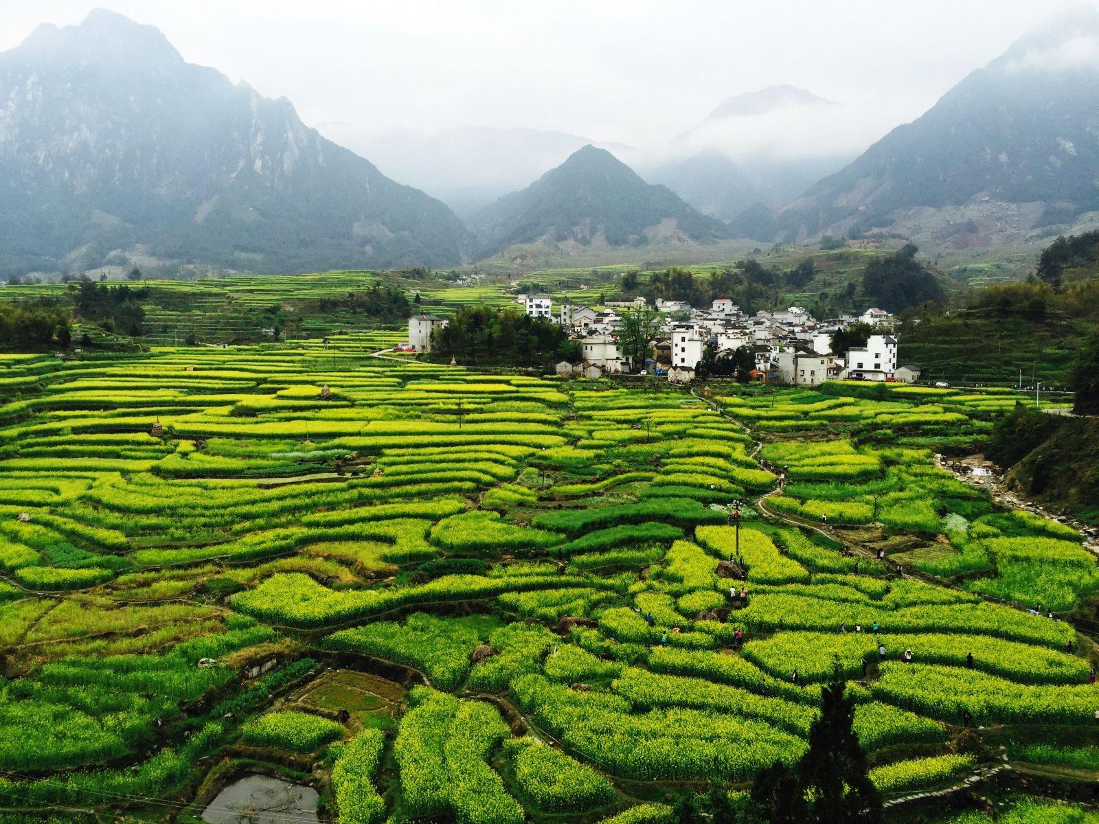 Le village de Jiapeng, pays de Wannan, au sud de l'Anhui. © Zhao Jie.