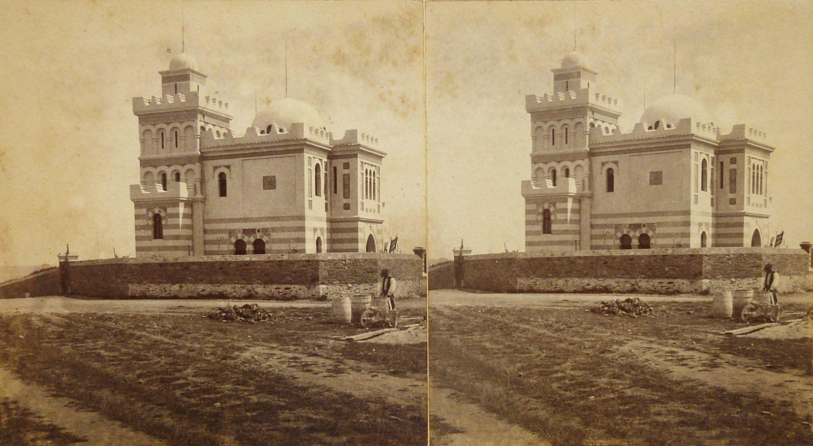 Vue Ouest de la villa à la fin des travaux de construction ; stéréotype vers 1885. Coll. Personnelle.