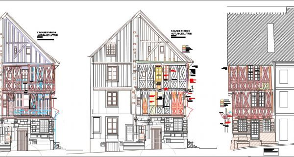 À Autun (71), Ville d'Art et d'Histoire, une maison canoniale du XVI(sup: e) siècle retrouve son aspect initial grâce à Saint-astier®